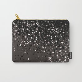 Blush Gray Black Lady Glitter #2 #shiny #decor #art #society6 Carry-All Pouch