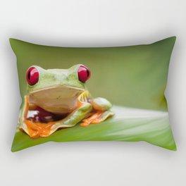 Posion Dart Frog Painting Rectangular Pillow