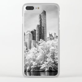 Central Park and Midtown Manhattan in Infrared Clear iPhone Case