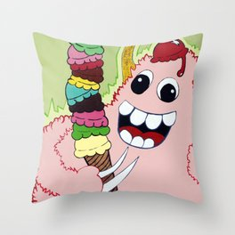 Bombacious Berry, Creamy Vanilla, Marshmallow Asteroids Throw Pillow