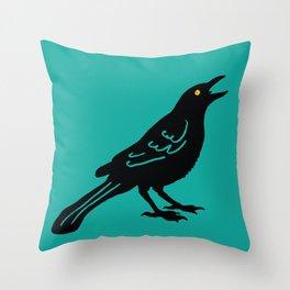 Grackle #2 Throw Pillow
