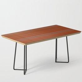 Rust Orange Stripes Coffee Table