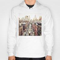 new york city Hoodies featuring New York City by Orbon Alija
