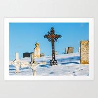 Iron Cross - Cape Breton Island Art Print