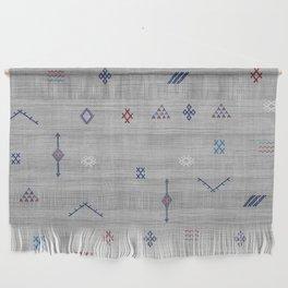 Cactus Silk Pattern in Grey Wall Hanging