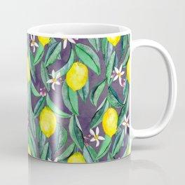 When Life Gives You Lemons - grey purple Coffee Mug