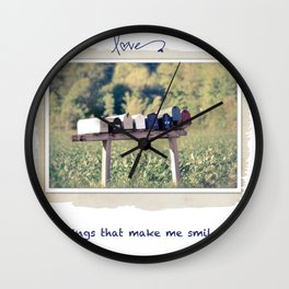 Things that make me smile Wall Clock
