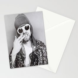 Kurt#Cobain Black And White Poster, Rapper Print, Custom Canvas Rolls, Home Decor,Nirvana Band Stationery Cards