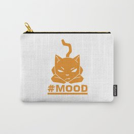 #MOOD Cat Orange Carry-All Pouch