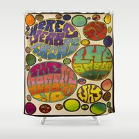 vonnegut Shower Curtains featuring There is No Why by Mickjaggernaut