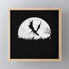 Dragon In A Night Sky Framed Mini Art Print