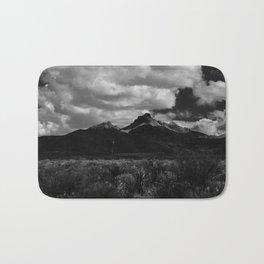 Dramatic Clouds over Mountain Range in Big Bend Bath Mat