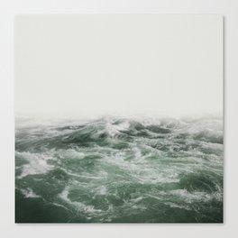 Green Sea | Landscape Photography | Beach Canvas Print