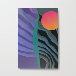 Crepuscular Streams Metal Print