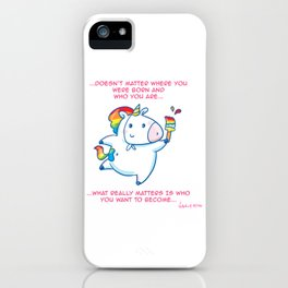 To be... an unicorn iPhone Case