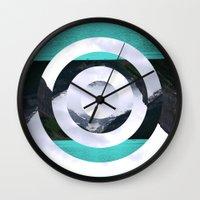 lake Wall Clocks featuring Lake Louise by Fimbis