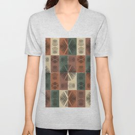 Mudcloth Tiles 03 #society6 #pattern Unisex V-Neck