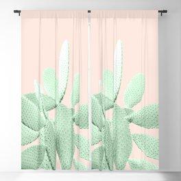 Green Blush Cactus #1 #plant #decor #art #society6 Blackout Curtain