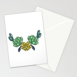 cacti and flowers Stationery Cards
