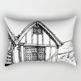 Traditional House in York, England Rectangular Pillow