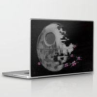 death star Laptop & iPad Skins featuring Death Star by Berta Merlotte