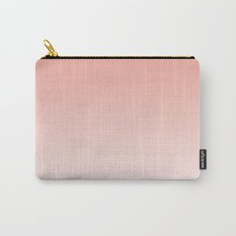 Delicate coral and white. gradient. Carry-All Pouch