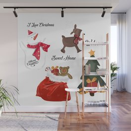 Christmas decoration two Wall Mural