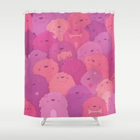 potato Shower Curtains featuring Potato Chips by Nandi Appleby