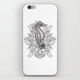 Seahorse and Curlicues iPhone Skin