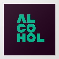 alcohol Canvas Prints featuring Alcohol by Bálint Magyar