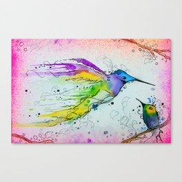 Liquid Hummingbird Canvas Print