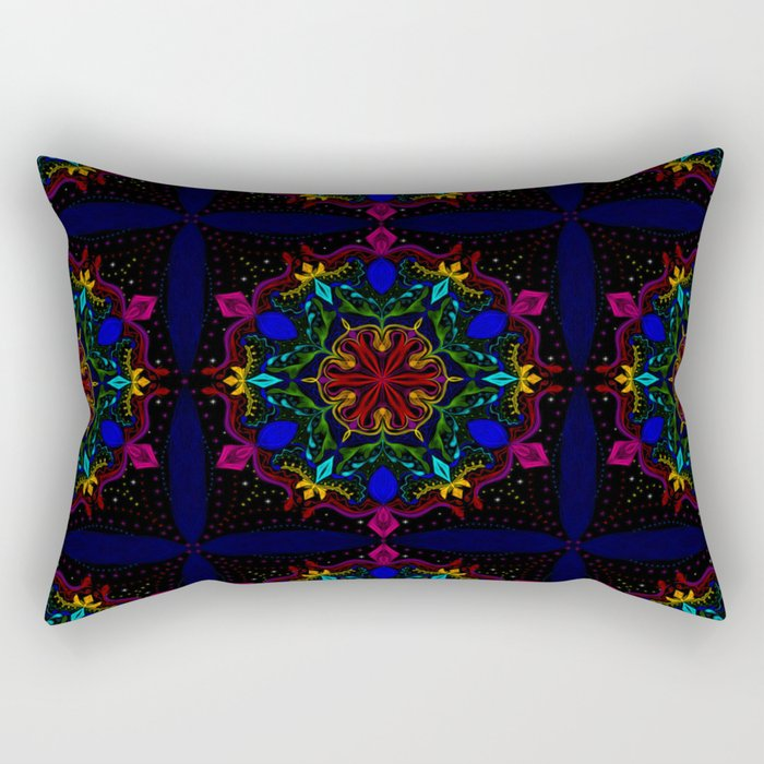 Carnival of Twisted Rainbows Rectangular Pillow