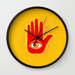 Hand and eye Wall Clock