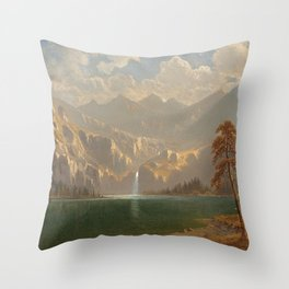 'In Yosemite on a Summer's Day' landscape painting by Gilbert Munger Throw Pillow