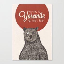 Bear from Yosemite Canvas Print