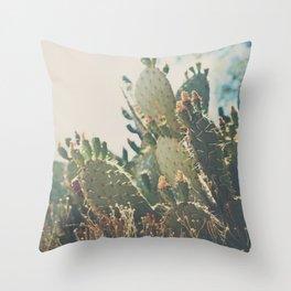 desert prickly pear cactus ... Throw Pillow