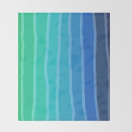 Vertical Color Tones #2 - Rainbow Collection Throw Blanket