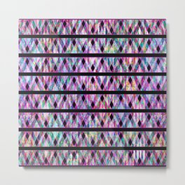 Geometric Glossy Pattern G330 Metal Print