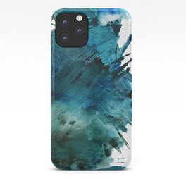 Scenic Route [2]: a pretty, minimal abstract piece in blue and green by Alyssa Hamilton Art iPhone Case