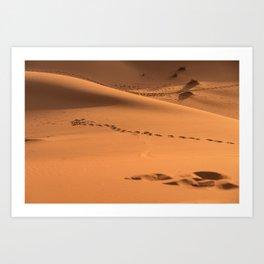 Desert Trek III - Sahara, Morocco Art Print