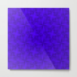 Stylish graphic pattern with iridescent triangles and violet squares in zigzag shapes. Metal Print