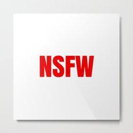 NSFW Metal Print