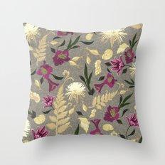 Flowers & Sea Shells Throw Pillow