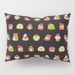 Strawberry Matcha - black Pillow Sham