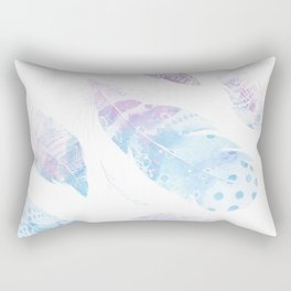 Faded galaxy feathers Rectangular Pillow