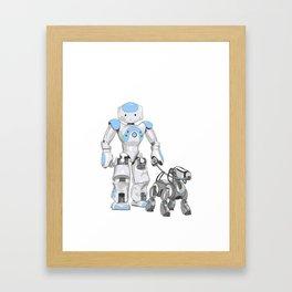 The Dog Walker. (Blue) Framed Art Print