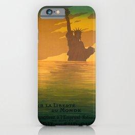 retro vintage pour la liberte du monde souscrivez a lemprunt national a la banque nationale de credit poster iPhone Case