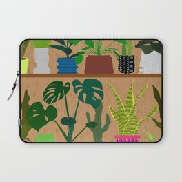 Plants on the Shelf in Warm Wood Laptop Sleeve