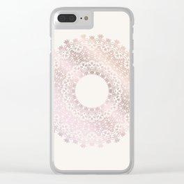 Rose Gold Mandala Clear iPhone Case