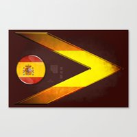 spain Canvas Prints featuring Spain by ilustrarte